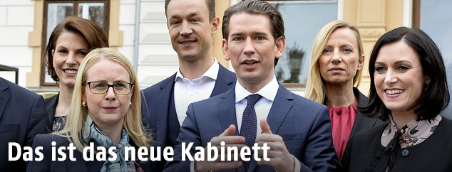 ÖVP-Präsentation des neuen Kabinetts