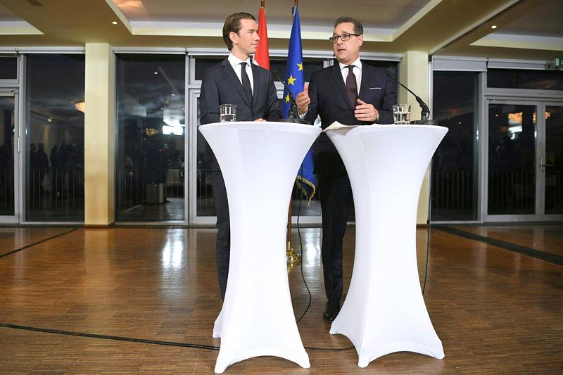 Sebastian Kurz (ÖVP) und Heinz Christian Strache (FPÖ)