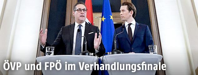 Heinz-Christian Strache und Sebastian Kurz