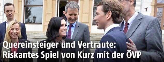 Sebastian Kurz und Teile des ÖVP-Ministerteams