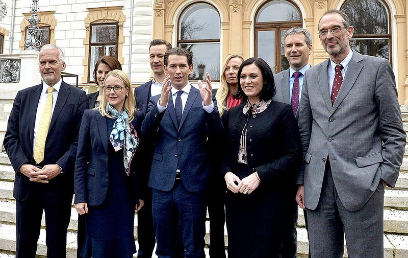 Sebastian Kurz und das ÖVP-Ministerteam