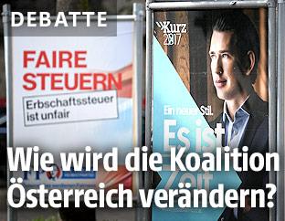 Wahlplakate der FPÖ und ÖVP