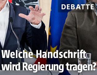Hand eines Politikers