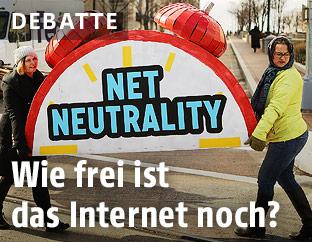 Protest für Netzneutralität