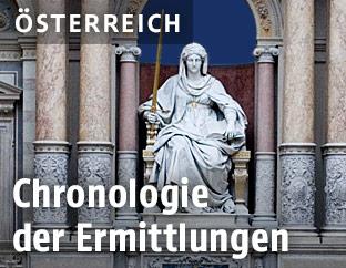 Statue der Justitia im Justizpalast in Wien