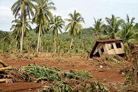 Schäden nach einem Sturm