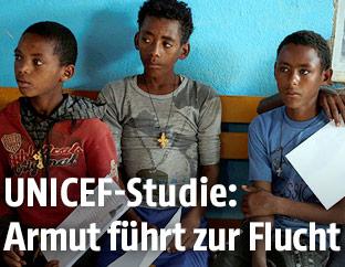 Eritreische Flüchtlingskinder