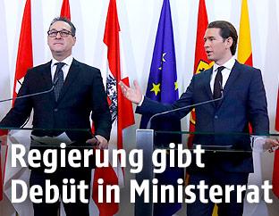 Vizekanzler Heinz-Christian Strache (FPÖ) und Bundeskanzler Sebastian Kurz (ÖVP)