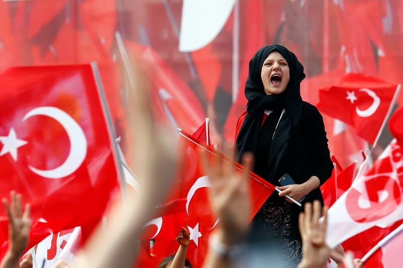 Erdogan-Anhängerin
