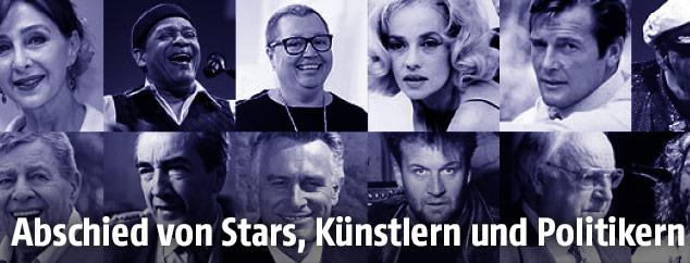 Porträts verstorbener Stars, Künstler und Politiker
