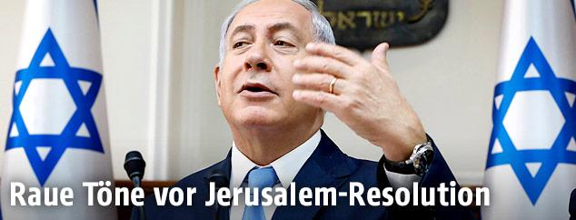 Israels Premier Benjamin Netanyahu
