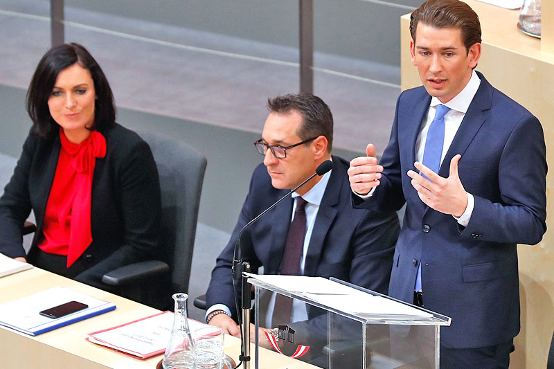 Rede von Bundeskanzler Sebastian Kurz (ÖVP)