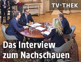 Interview mit Bundeskanzler Sebastian Kurz (ÖVP) und Vizekanzler Heinz-Christian Strache (FPÖ)