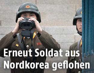 Nordkoreanische Grenzsoldaten