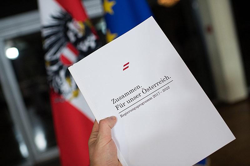 Exemplar des Regierungsprogramm