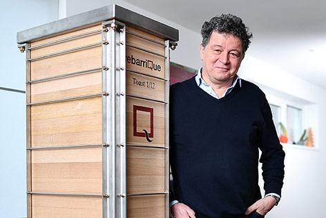 Der Erfinder eines eckigen, zerlegbaren Weinfasses, Thomas Lutz