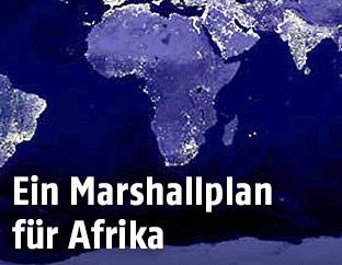 Satellitenbild von Afrika