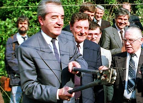 Die ehemaligen Außenminister Alois Mock und Gyula Horn