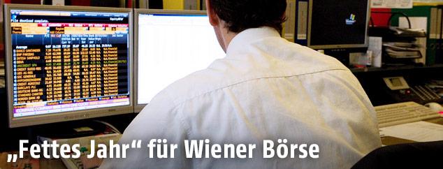 Mitarbeiter bei der Wiener Börse