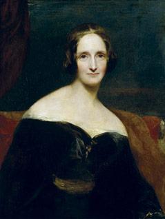 Mary Shelley, gemalt von Richard Rothwell