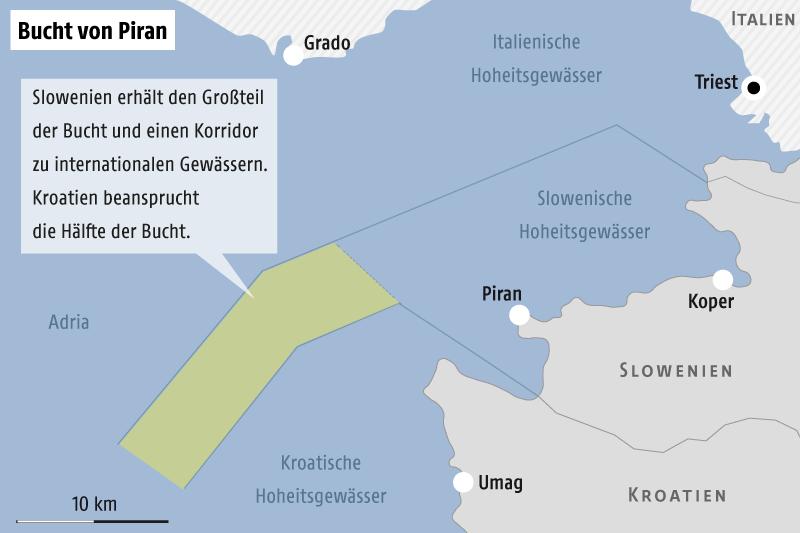 Kroatische Polizei eskortiert Fischerboote