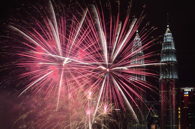 Feuerwerk in Kuala Lumpur