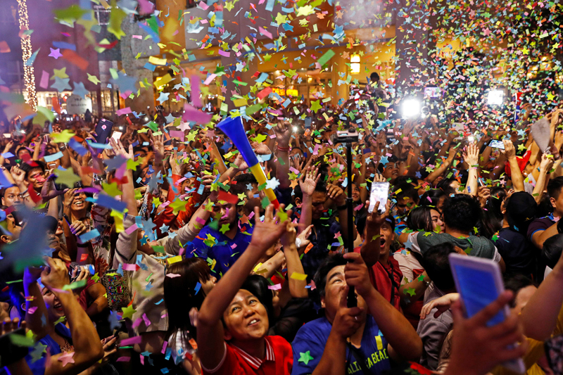 Feiernde auf den Philippinen