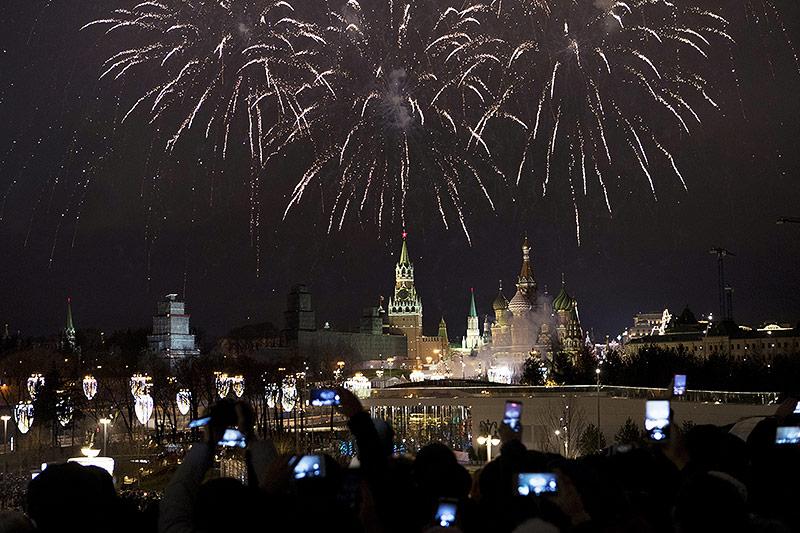 Feuerwerk über Kreml