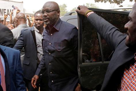 Der liberianische Präsidentschaftskandidat George Weah