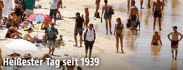 Strandbesucher am Bondi-Beach in Sidney