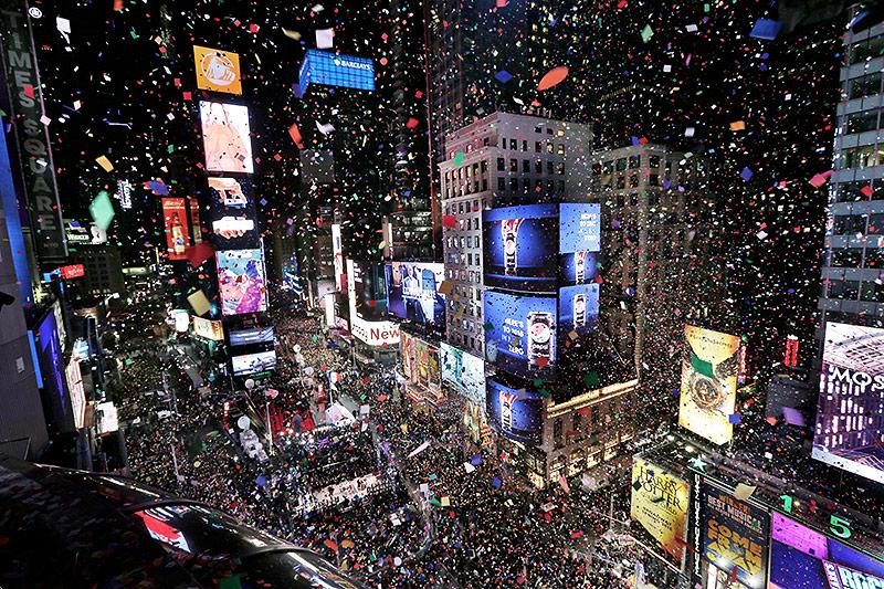 Feuerwerk auf der 5th Avenue in New York