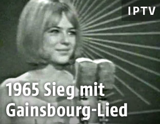 Archivaufnahme der Sängerin France Gall aus dem Jahr 1965