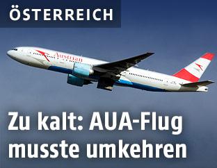 Passagierflugzeug der AUA