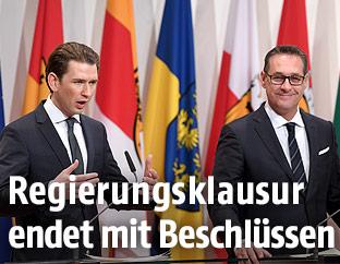BK Sebastian Kurz und VK Heinz Christian Strache