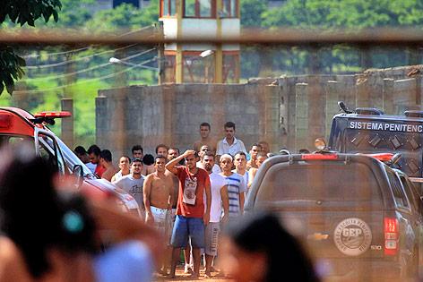 Insassen der brasilianischen Haftanstalt Colonia Agroindustrial
