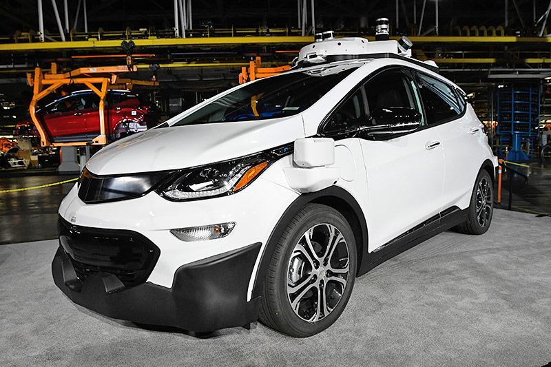 Ein selbstfahrender Chevrolet Bolt EV