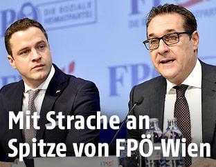 Johann Gudenus und Heinz Christian Strache (FPÖ)