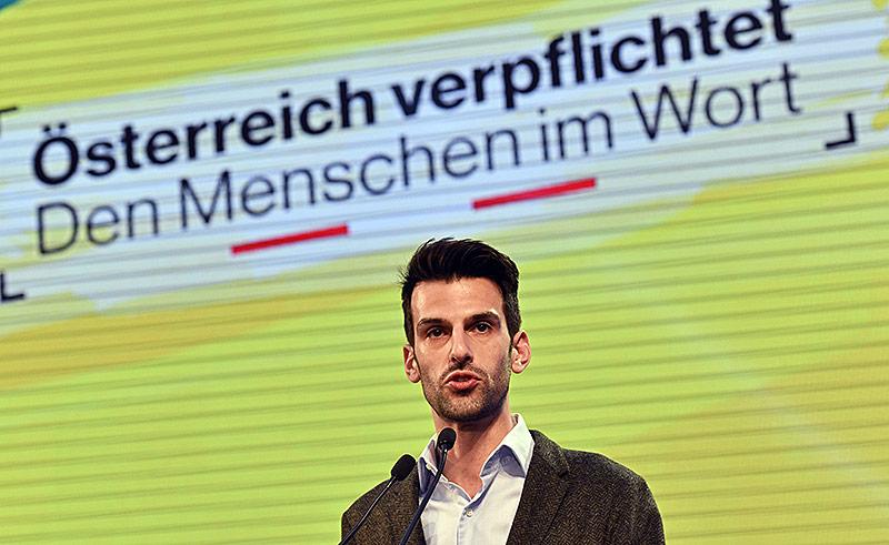 Udo Landbauer, Landesspitzenkandidat der FPÖ Niederösterreich