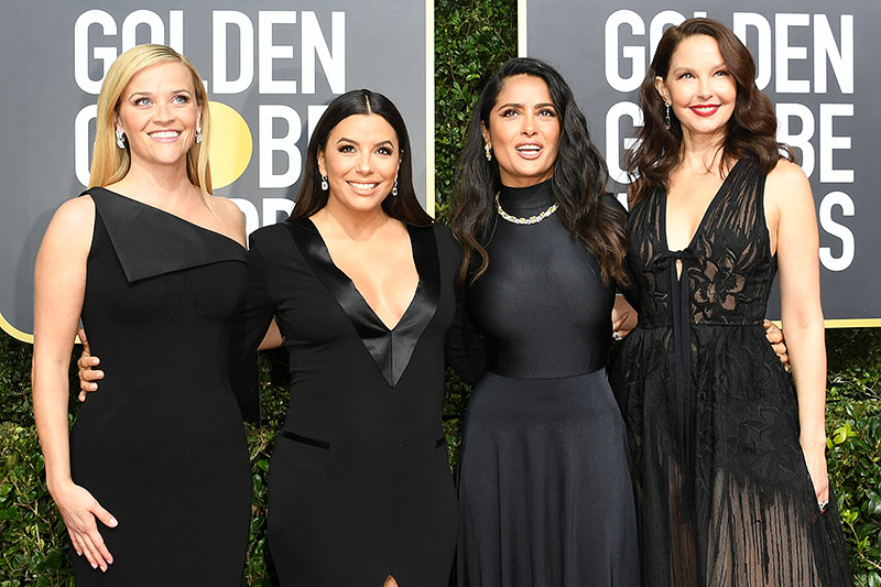 Reese Witherspoon, Eva Longoria, Salma Hayek und Ashley Judd