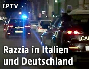 Italienische Polizeiautos
