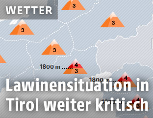 Grafik zeigt Lawinensituation in Tirol