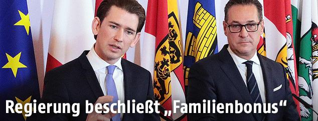 Bundeskanzler Sebastian Kurz und Vize-Kanzler HC Strache