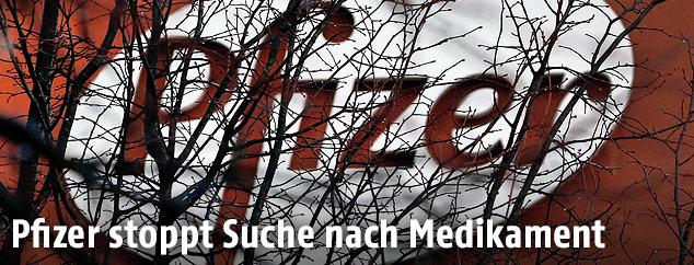 Pfizer-Logo hinter Baumästen