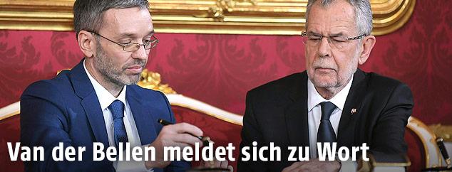 Herbert Kickl und Alexander Van der Bellen
