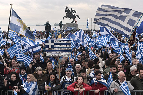 Mazedonien: Großdemo gegen Kompromiss in Namensstreit