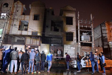 Abgebranntes Fabriksgebäude
