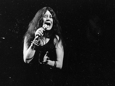 Janis Joplin auf der Bühne 1969