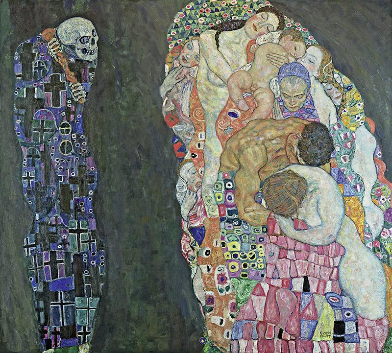 """GUSTAV KLIMT, """"Tod und Leben"""", 1910/11, umgearbeitet 1915/16"""