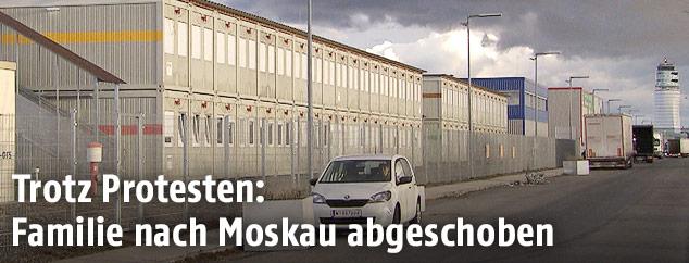 Wohncontainer am Flughafen Wien