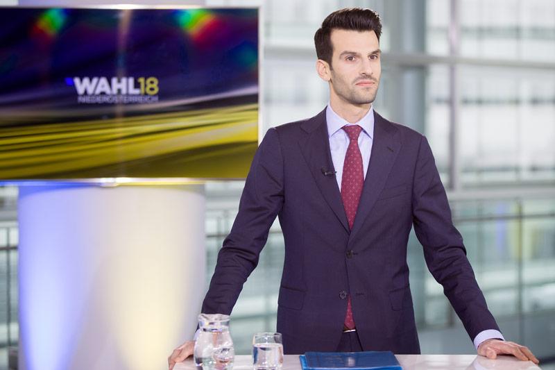 Der niederösterreichische FPÖ-Spitzenkandidat Udo Landbauer